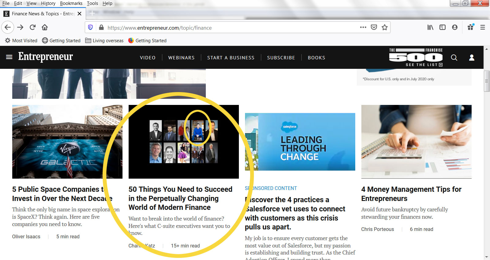Eric Chung of Lighthaven Capital featured on Finance homepage of Entrepreneur Magazine