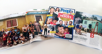 our client, Homes of Hope Int'l. featured in People Magazine's 2016 Collector's Edition of American Heroes edition, June 2016